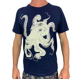 Octopus Lines Navy Mens Tee