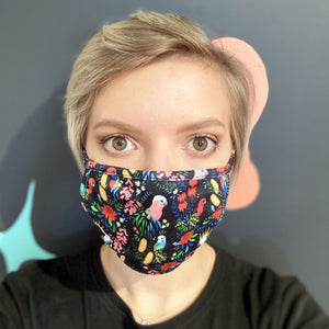 3 Layered Face Mask: Bush Parrots SOLD OUT - PRE-ORDER NOW due 15th August
