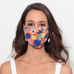 Adult Face Mask: Summer Flowers