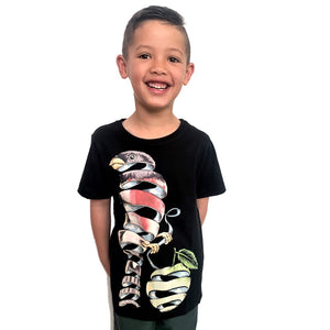 Surrealist Bird Charcoal Kids Tee