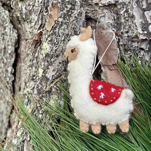 Christmas Ornament Decoration Llama Blanket