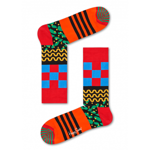Happy Socks: Orange, Blue & Black Mix Max Socks