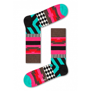 Mix Max Sock Teal Pink Brown