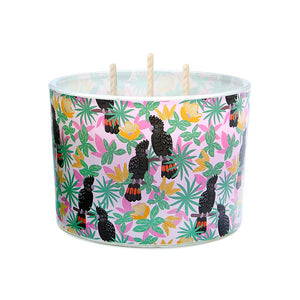 Candle Tri-Wick: Black Cockatoos