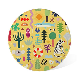 Ceramic Coaster: Beach Party