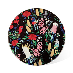 Ceramic Coaster: Bush Parrots