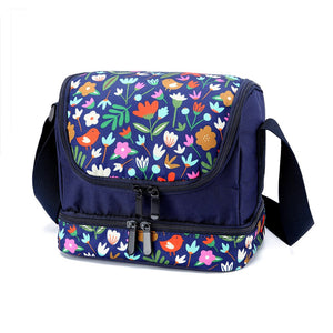Lunch Box Bag: Winter Garden