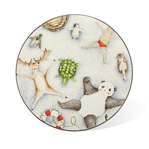 Ceramic Plate: Floating Animals