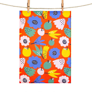 Tea Towel: Summer Flowers