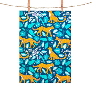 Tea Towel: Leopards