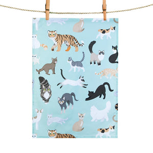 Tea Towel: Clowder of Cats