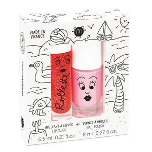 Kids Lip Gloss & Nail Polish Gift Pack Holidays