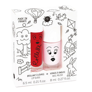 Kids Lip Gloss & Nail Polish Gift Pack Kids Cottage