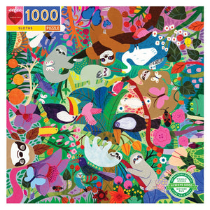 eeBoo: 1000PC Puzzle Sloths