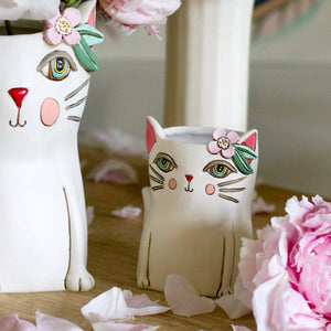 Michelle Allen: Planter/Pen Holder Baby Pretty Kitty