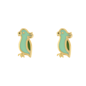 Short Story: Gold Parrot Green Earrings