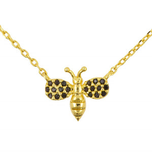 Short Story: Necklace Diamante Bee Black