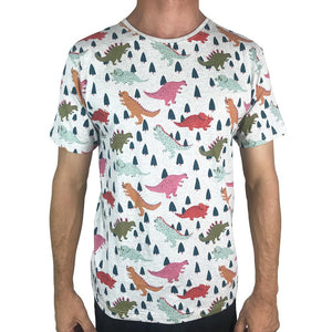 Dinos Grey Marle Mens Tee