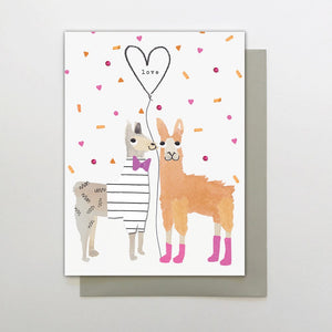 Stop The Clock: Greeting Card Ticker Tape Parade Llama