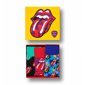 Rolling Stones Sock Box Set Yellow Red