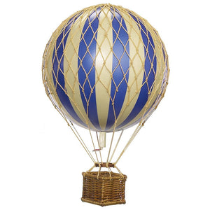 AM Living: Hot Air Balloon Ornament Blue