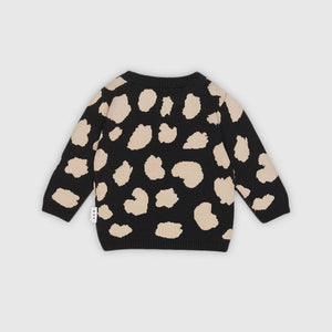 Huxbaby: Animal Spot Knit Jumper Black 5
