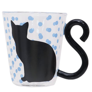 Cat Couple Mug (Blue Spots)