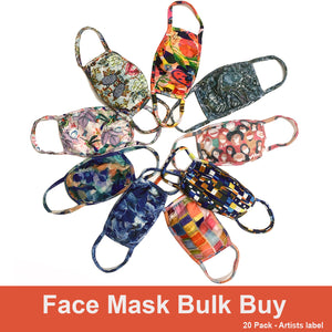 Face Masks - Bulk Buy Artist Label 20 Pack SAVE 40%!