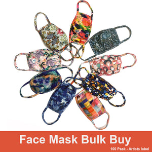 Face Masks - Bulk Buy Artist Label 100 Pack SAVE 65%!
