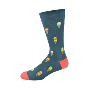 Bamboozld: Mens Ice Cream Blue Bamboo Socks