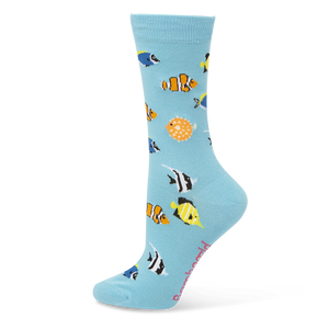 Bamboozld: Womens Aquarium Sky Blue Bamboo Socks