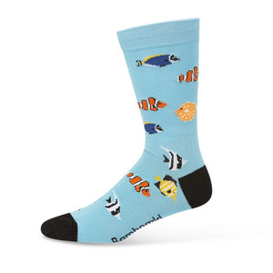 Bamboozld: Mens Aquarium Bright Blue Bamboo Socks