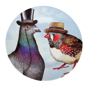 Birds in Hats Melamine Plate
