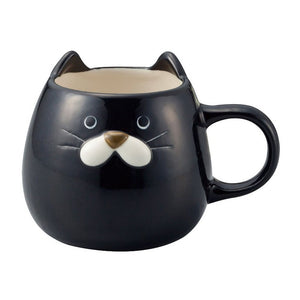 Cat Face Mug cup Black
