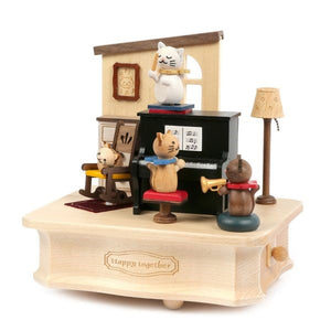 Music Box Cat Plays Piano