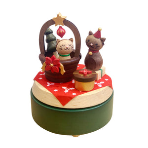 Music Box Xmas Cats