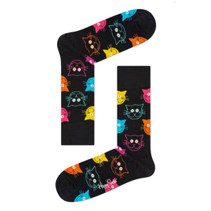Happy Socks: Black Cat Socks