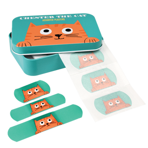 Rex London: Plasters in a Tin 30pk Chester the Cat