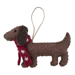 Christmas Ornament Decoration Dachshund Sausage Dog Scarf