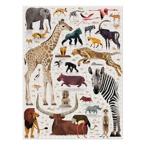 Crocodile Creek: 750pc Puzzle World of African Animals