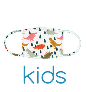 KIDS Face Mask: Dinos - PRE-ORDER NOW due 29th July