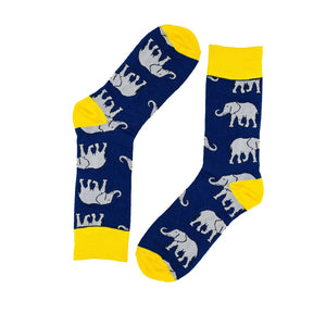 My2Socks: Elephant Socks Navy
