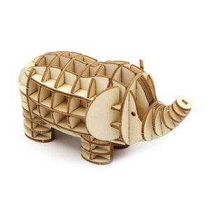 Kigumi: Wooden Model Elephant