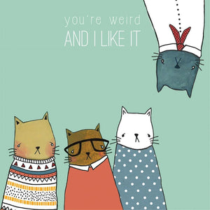 Greeting Card Crazy Cat