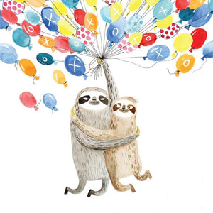 Greeting Card Sloth Balloons