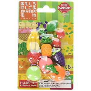 Puzzle Erasers Blister Pack - Fruit