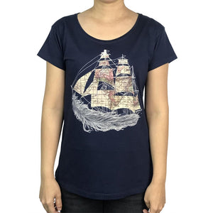 Wherever the Wind Blows Navy Womens Tee