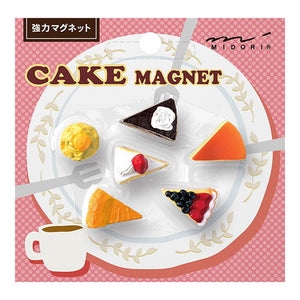 Mini Magnet Set: Cake 6pk