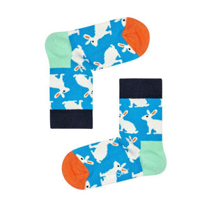 Kids Bunny Sock Blue White