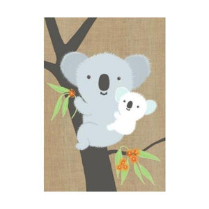 Gillian Mary Koala & Baby Super Cute Greeting Card